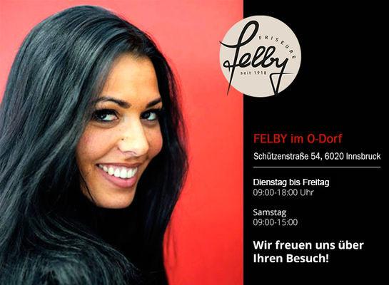 Friseur Felby im O-Dorf in Innsbruck